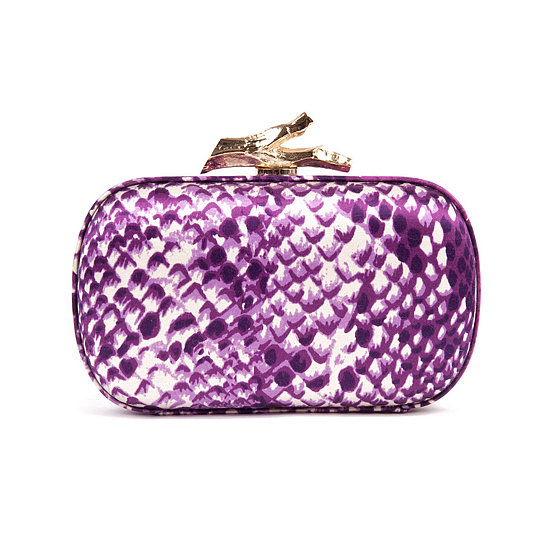 OK, so getting a designer clutch for $10 is near impossible. But you can rent this Diane von Furstenberg Thai Purple Skin Clutch ($10) for the night and still have cash to spare for a showstopping dress.
