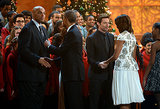Charles Barkley and Hugh Jackman got to share a moment with the Obamas.