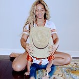 Beyoncé and Blue Ivy played dress-up. Source: Instagram user beyonce