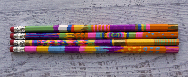 DIY Stocking Stuffer: Sharpie-Painted Pencils