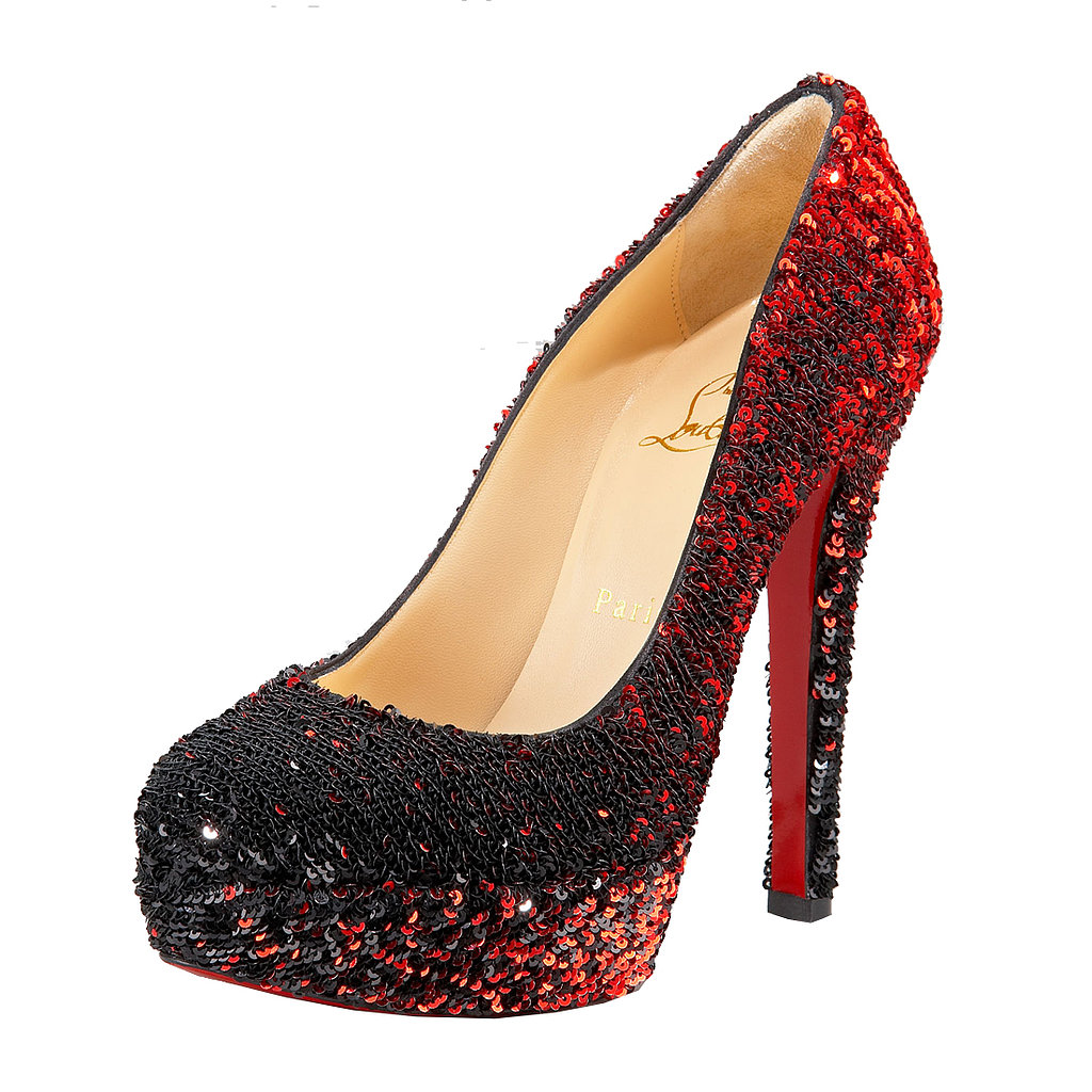 Dorothy, eat your heart out! These Christian Louboutin pumps ($1,695) are the most fabulous ruby slippers we've ever seen.