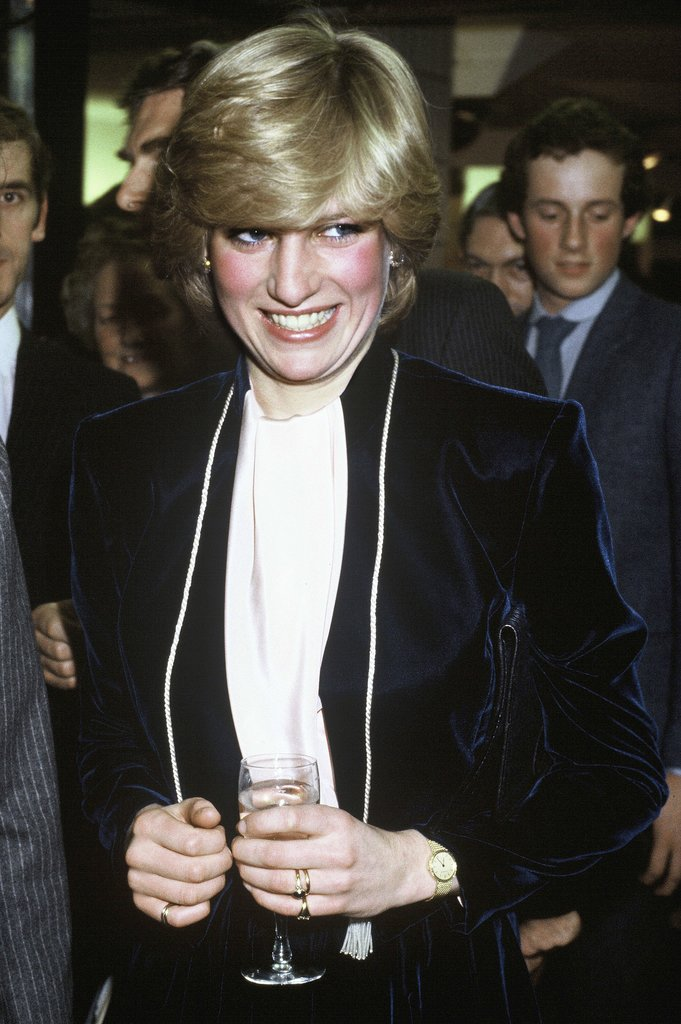For her first Christmas as a royal, Princess Diana turned on the Regent Street Christmas lights in London in 1981.