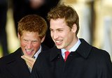 Prince William and Prince Harry cracked up on Christmas Day in 2003.