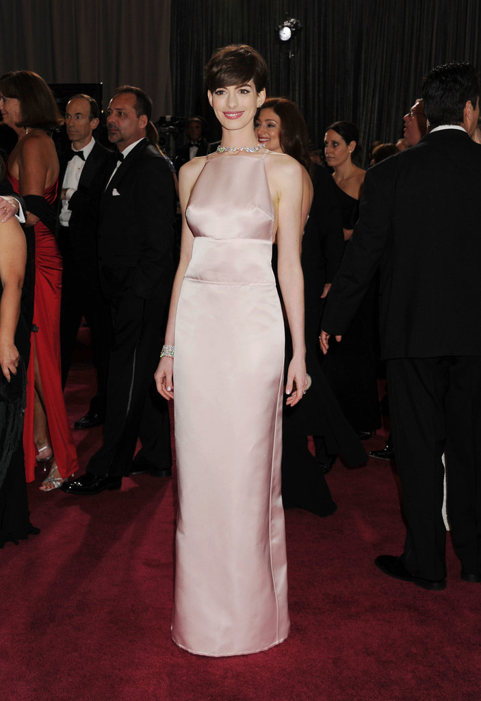 Anne Hathaway's Last-Minute Oscar Dress Change