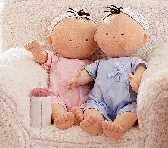 Pottery Barn Kids Twin Baby Dolls