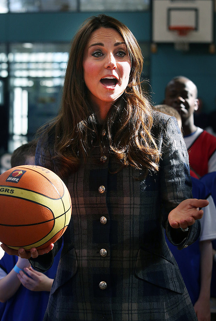 Even while pregnant, Kate got sporty in Scotland.