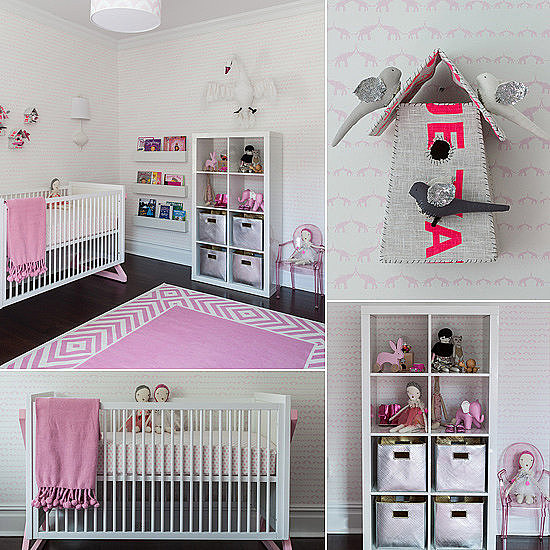 Kids' Rooms: A Bold Baby Girl's Room With a Pop of Neon