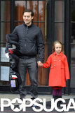 Tobey Maguire's daughter, Ruby, didn't look impressed when he took her out in NYC in November.