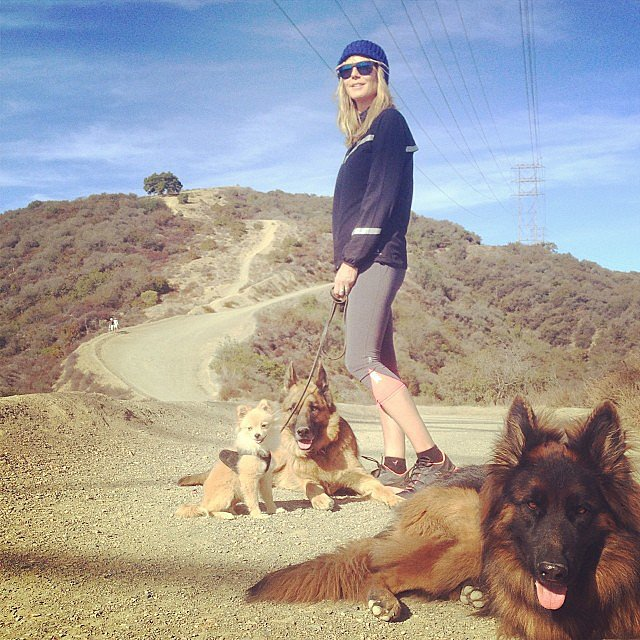 Heidi Klum made the most of the sunny LA weather by going on a hike with her dogs. Source: Instagram user heidiklum