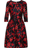 Floral-print silk and cotton-blend dress ($950)