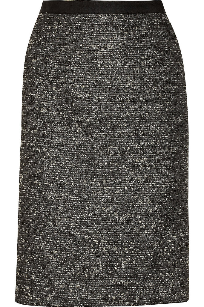 Tweed pencil skirt ($475)