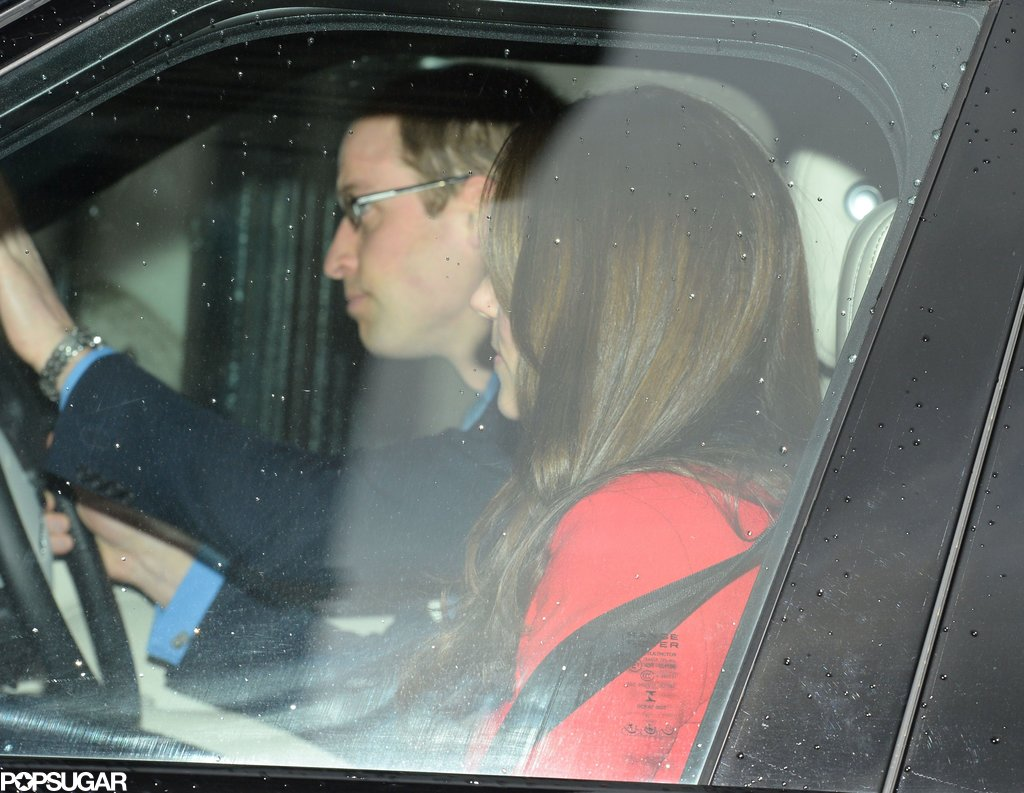 Prince William drove Kate Middleton to Queen Elizabeth II's annual pre-Christmas lunch.