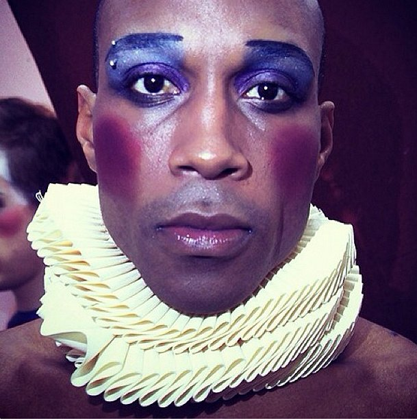 MAC caught a close-up of this dancer's bright makeup backstage at