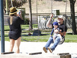 In August, Hilary Duff snapped photos of her husband, Mike Comrie, and their son, Luca Comrie, at a park in Beverly Hills.