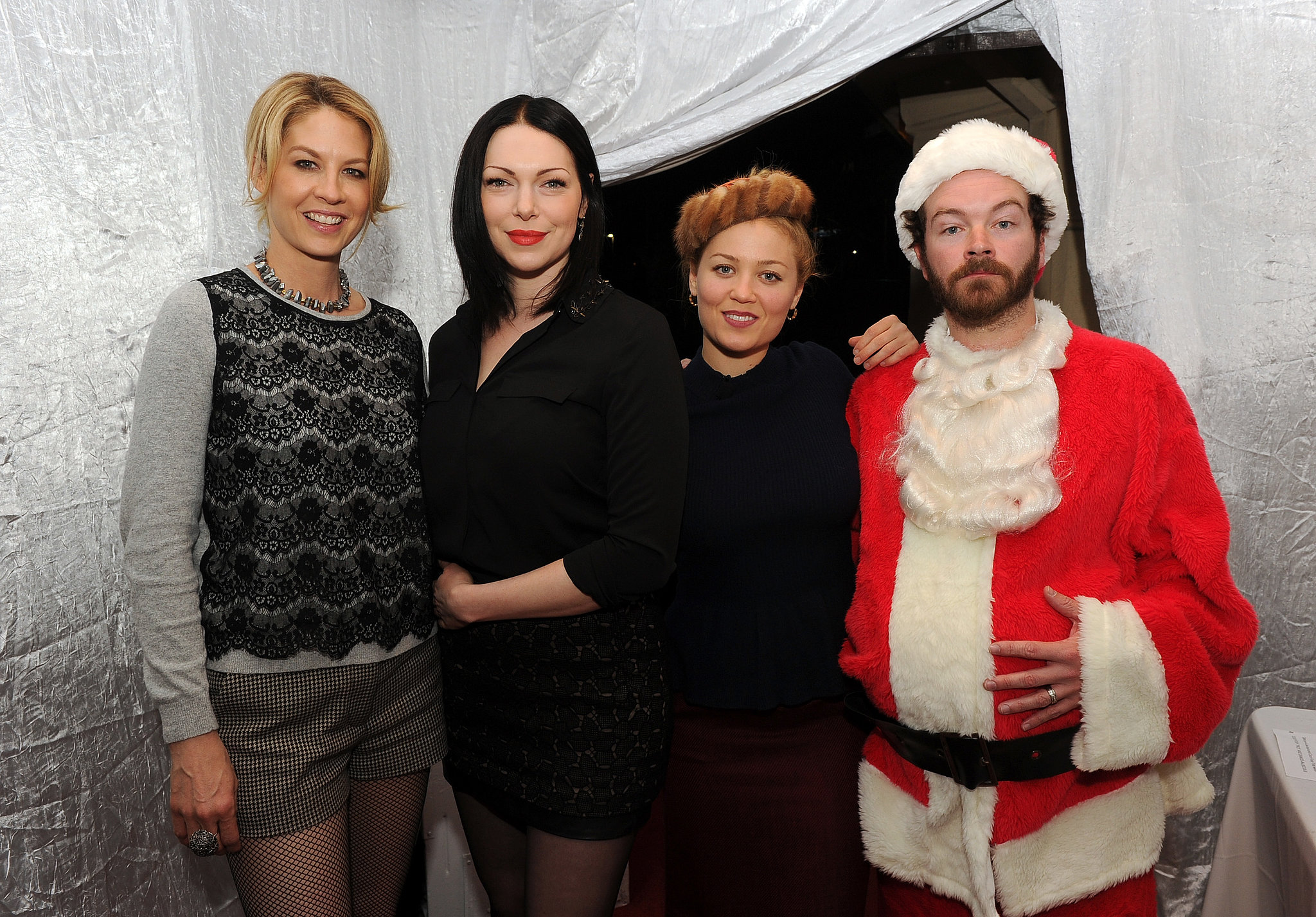 Jenna Elfman, Laura Prepon, Erika Christensen, and Danny Masterson attended the Church of Scientology Christmas Stories event in LA.