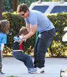 In February, Mark Wahlberg let his son stand on his feet while they were playing basketball at a park in LA.