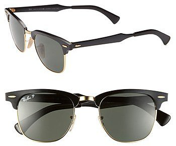 Ray-Ban Polarized 'Clubmaster' 49mm Sunglasses