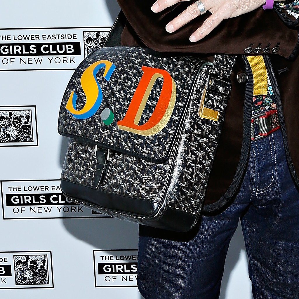 "Goyard Monogrammed Computer Bag ""Being able to personalize a gift makes it all the more special. So who could be mad at a Goyard computer case with their initials or name? Not me!"""