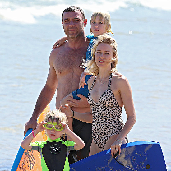 Naomi Watts and Family at Bondi Beach Pictures