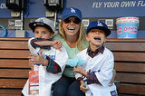 Britney Spears brought her boys, Sean and Jayden, to a Dodgers game in LA back in April.