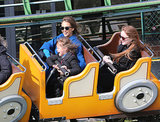 In March, Jessica Alba took her daughter Honor on a roller-coaster ride in Paris.
