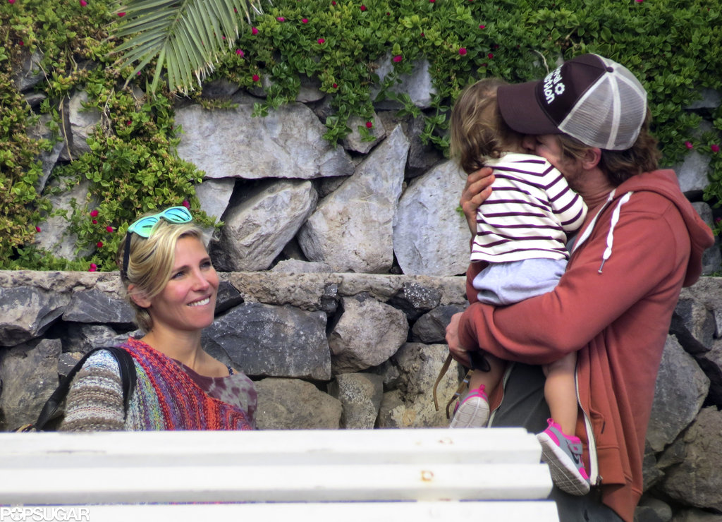 In December, Chris Hemsworth gave his daughter, India, a kiss during a vacation in Spain with his wife, Elsa Pataky.
