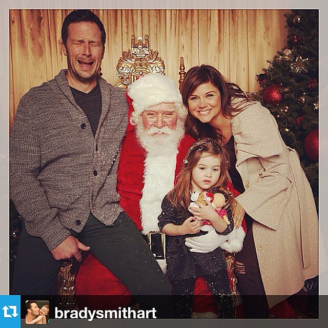 The Thiessen-Smith family was a mixed bag of emotions when posing with Santa this week. Source: Instagram user tathiessen