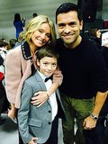 Joaquin Consuelos had the support of his mom, Kelly Ripa, and dad, Mark Consuelos, at his school's holiday concert. Source: Twitter user KellyRipa