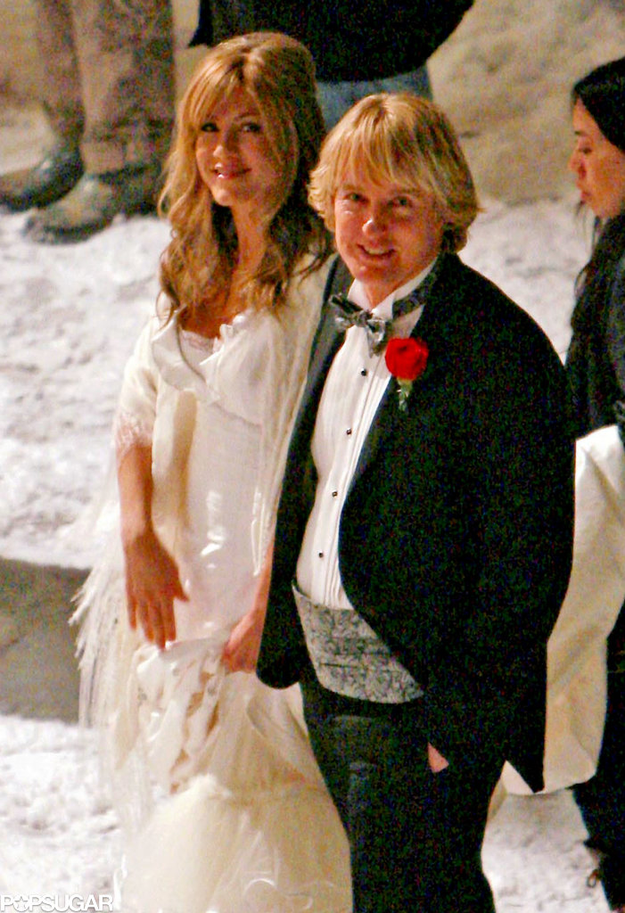 Jennifer Aniston and Owen Wilson had a little help from a snow machine on the Philadelphia set of Marley & Me in 2008.