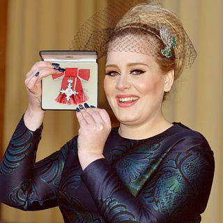 Adele's Nail Art For Her MBE Award