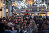 London's Regent Street was filled with holiday shoppers.