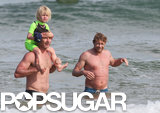 Simon Baker and Liev Schreiber joined up for a surfing trip.