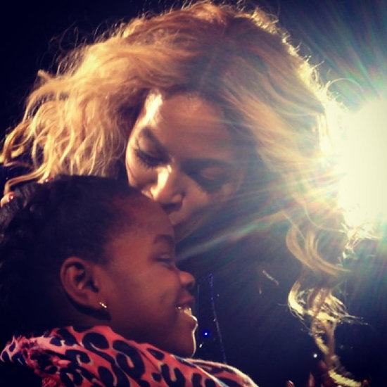 Beyonce Gives Madonna's Daughter Mercy James A Kiss