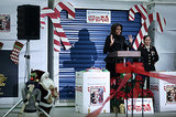 Michelle Obama addressed the crowd at the event, thanking the military families for giving back.