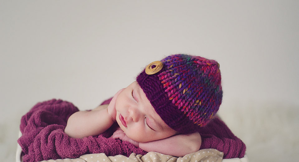 This newborn beanie ($18) will stylishly keep your little girl warm this Winter.