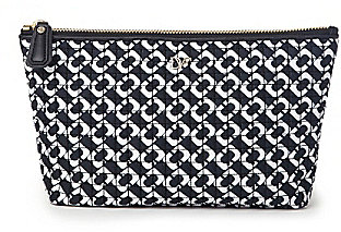 Voyage Nylon Chainlink Print Cosmetic Bag In Chainlink Black/ White