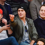 Pictures Of Zac Efron At The Basketball