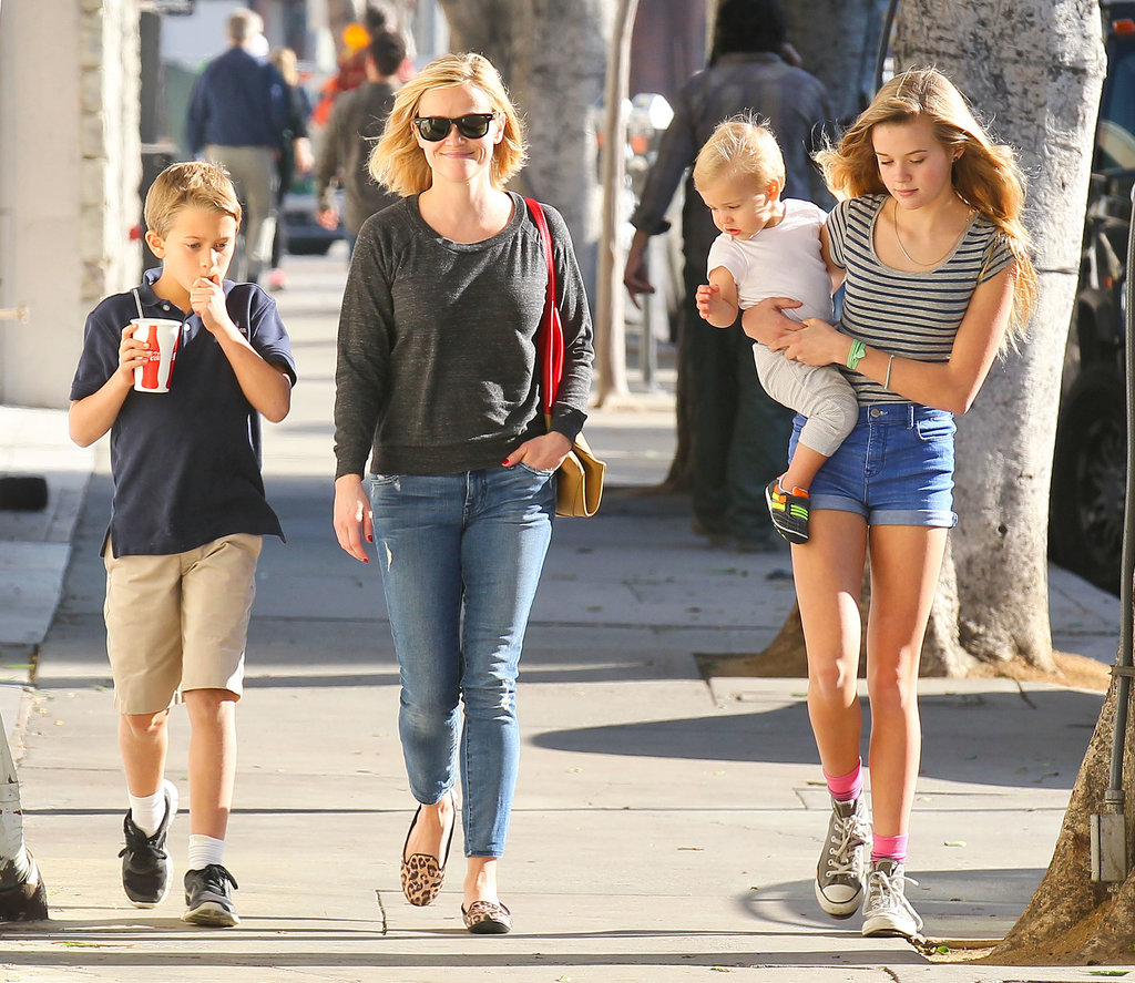 Reese Witherspoon was all smiles during an afternoon with her children.