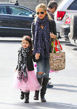 Sarah Michelle Gellar walked her daughter, Charlotte Prinze, into ballet class in LA.