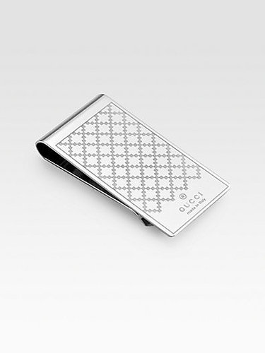Gucci Diamante Pattern Metal Money Clip