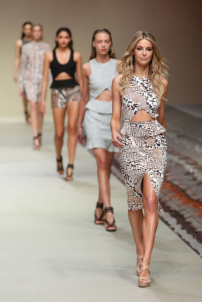 Animal instincts put Jen at the front of the pack at the Myer Spring/Summer launch in August.