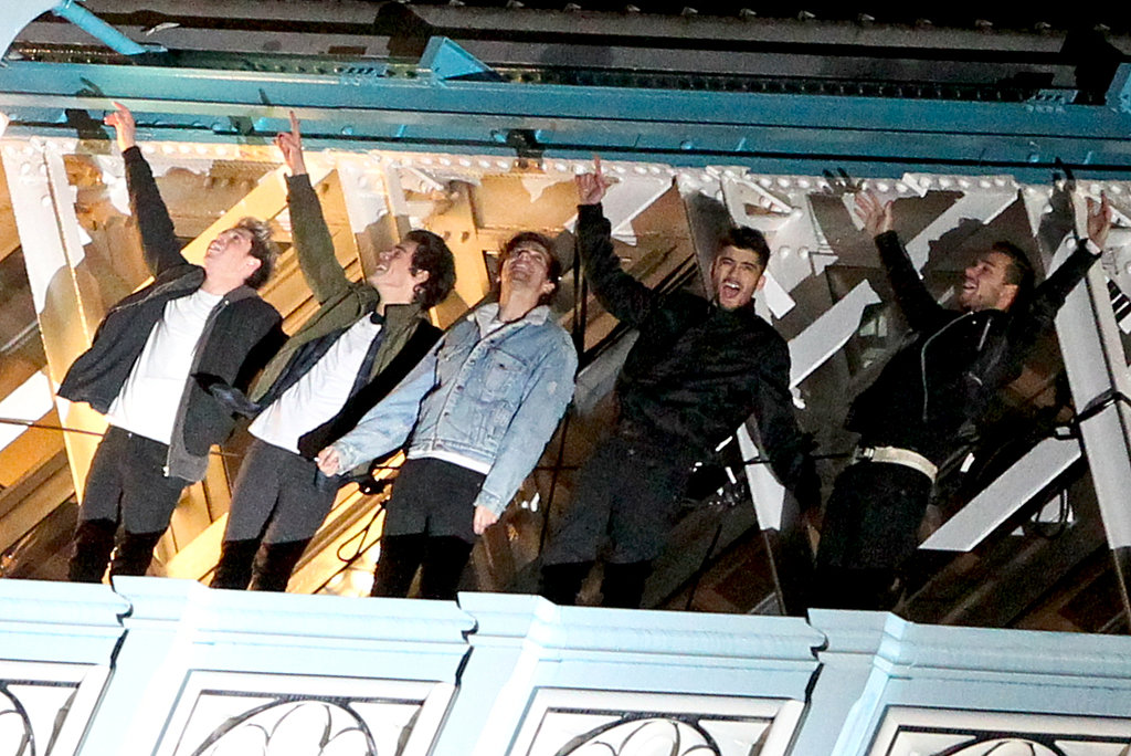"One Direction traveled to the top of Tower Bridge, a popular London landmark, to film the music video for their new single, ""Midnight Memories."""