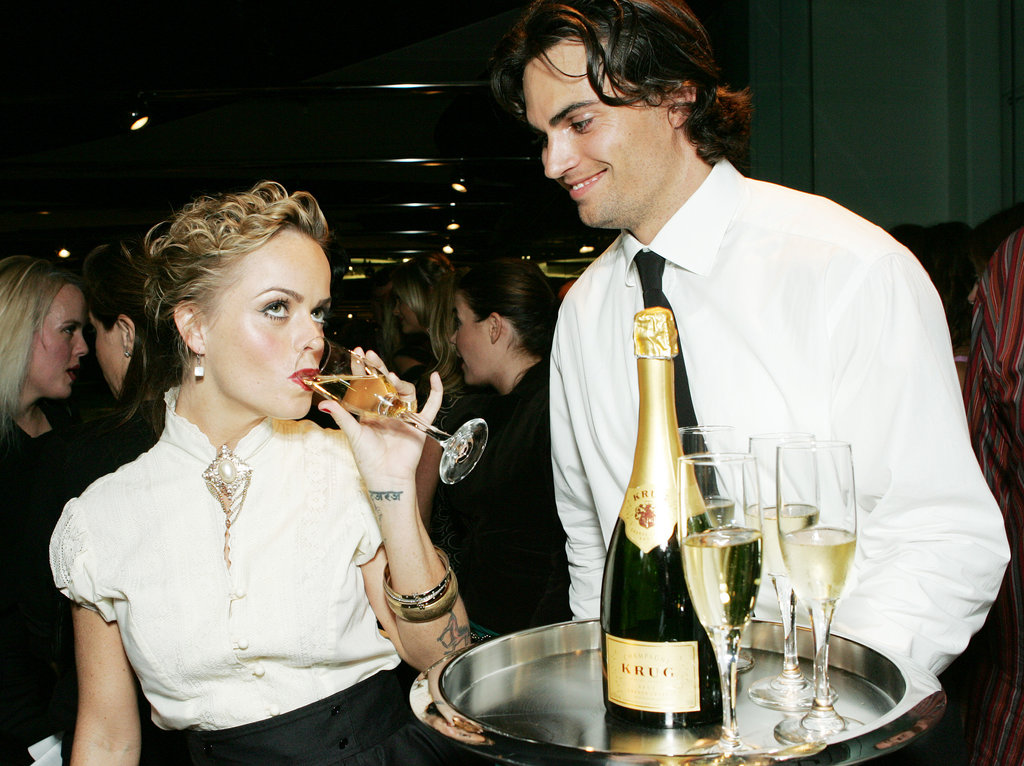 Taryn Manning sipped Krug Champagne at the Hollywood Style Awards in October 2005.