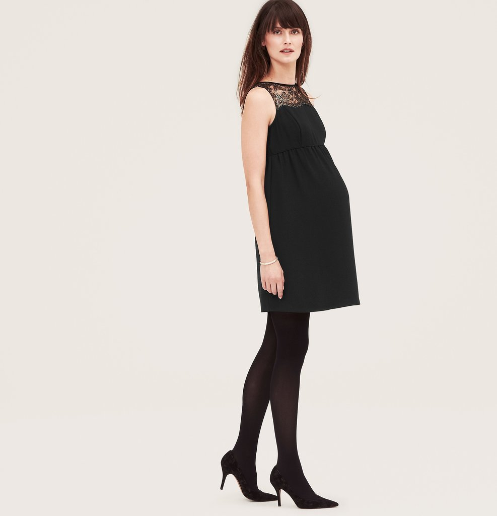 LOFT Maternity Gilded Lace Yoke Dress