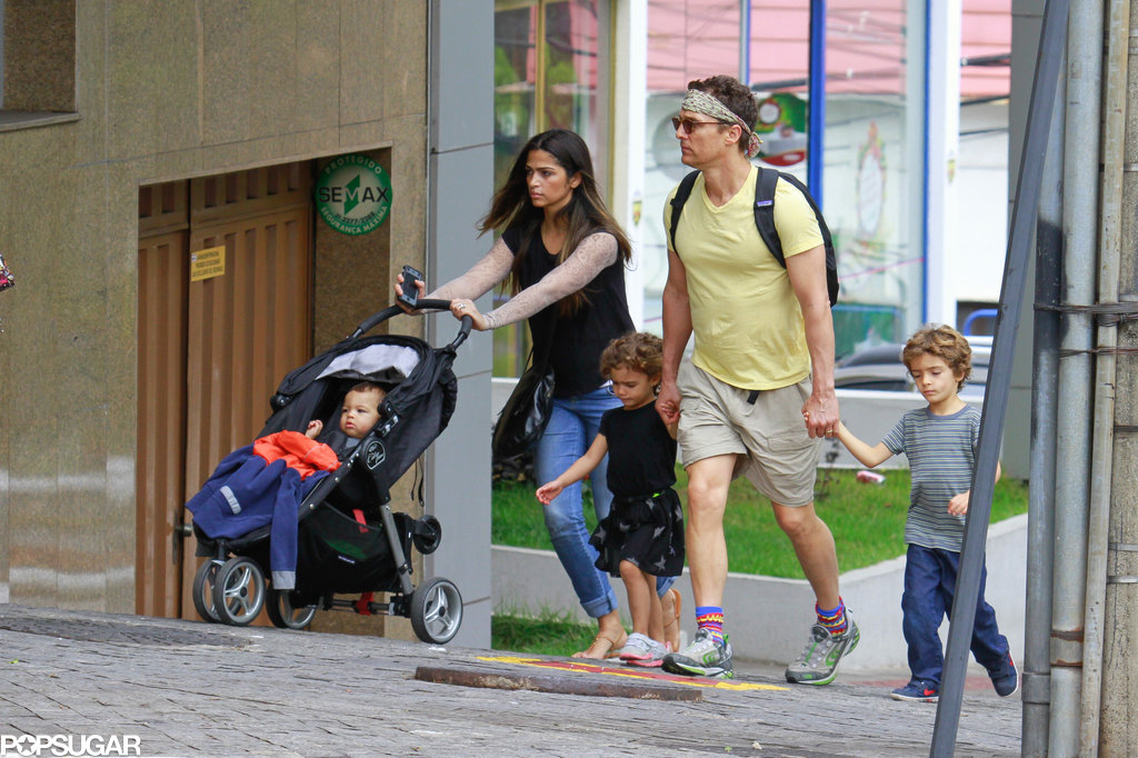 Matthew McConaughey and his family went sightseeing in Brazil.