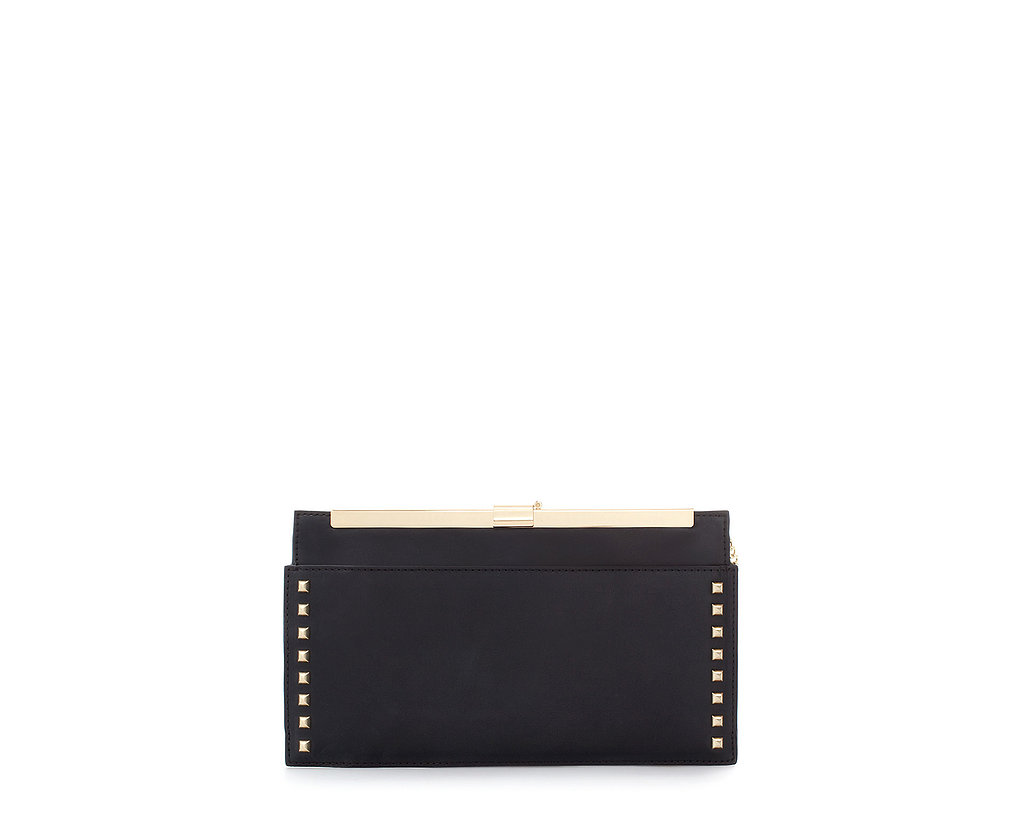 Zara Studded Mini Clutch With Clasp ($60, originally $80)