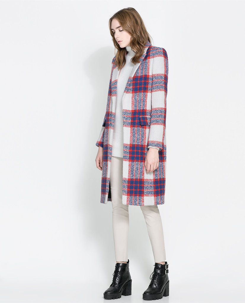 Zara Checked Coat ($160, originally $239)