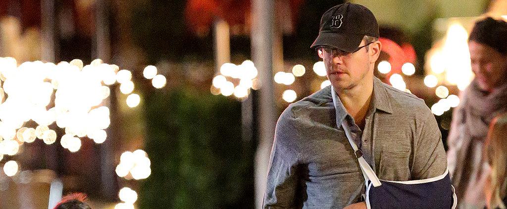 What's Up With Matt Damon's Injured Arm?
