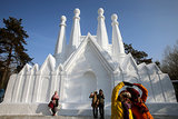The Harbin International Ice and Snow Sculpture Festival is one of the largest ice and snow festivals in the world.