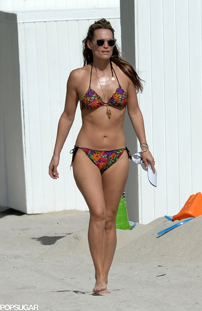 Molly wore a printed bikini in Miami.